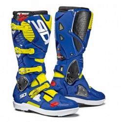 Bottes moto SIDI CROSSFIRE 3 SRS bleu jaune