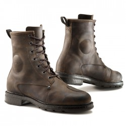 Bottes moto TCX X-BLEND WP marron vintage