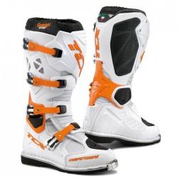 Bottes moto TCX COMP EVO blanc orange