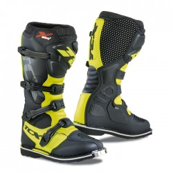 Bottes moto TCX X-BLAST noir jaune fluo